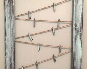 Rustic Frame Picture Holder Card Organizer