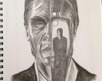 American Psycho Charcoal Art