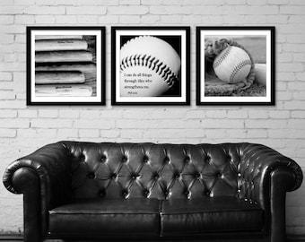 Baseball Prints I can do all things through Him Phil 4:13