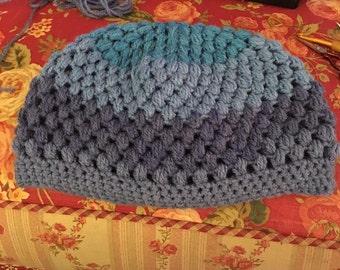Adult Bobble Stitch Crocheted Hat