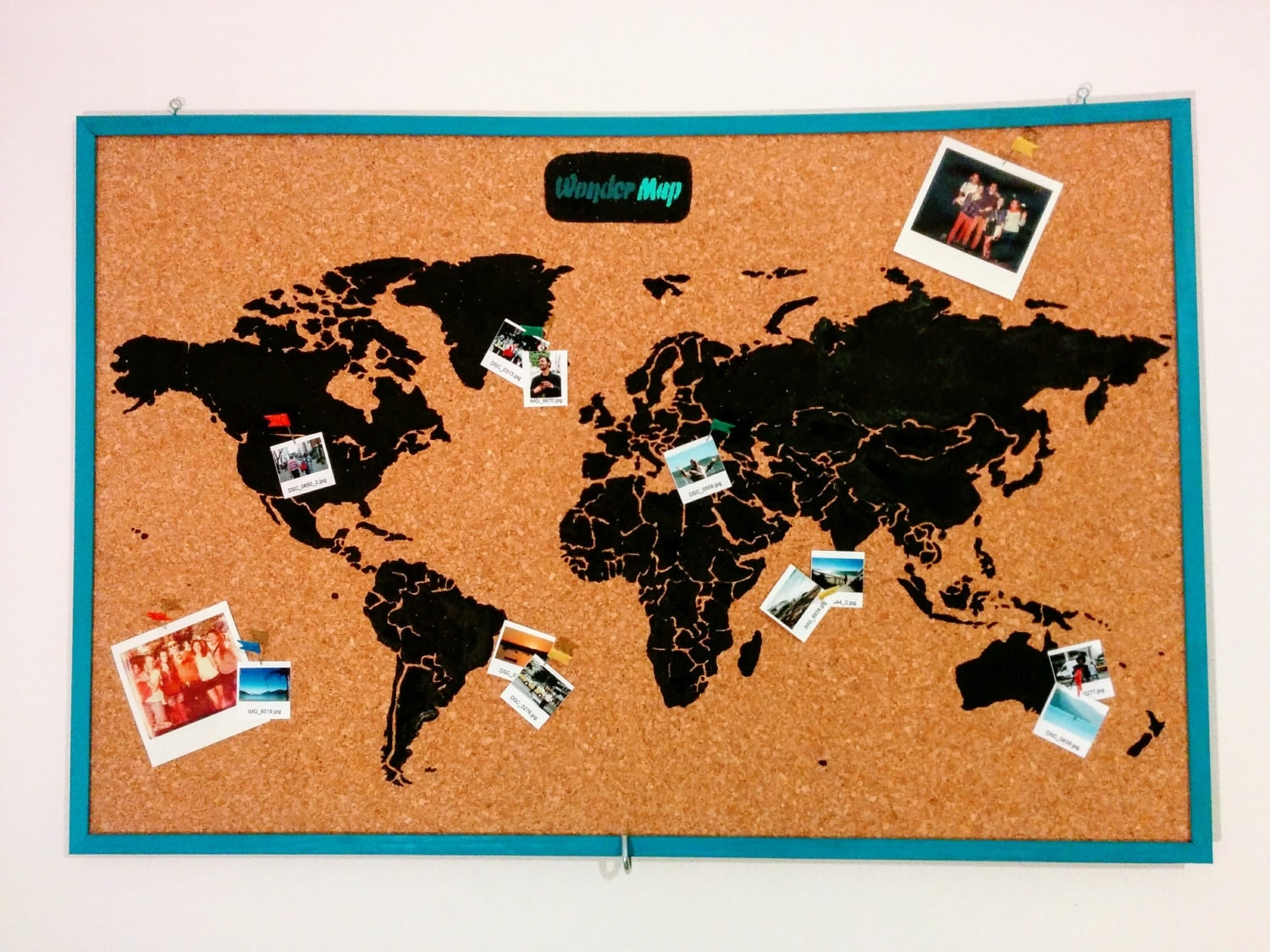 Cork Board Map Etsy - Map of the united states cork board