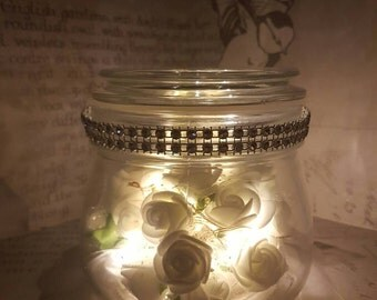 Glo flower led jar