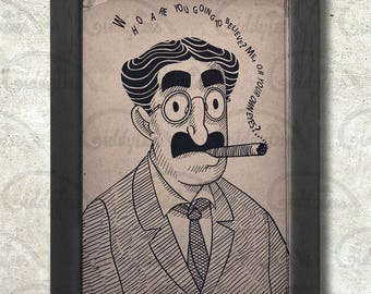 Groucho Marx Poster Print A3+ 13 x 19 in - 33 x 48 cm  Buy 2 get 1 FREE