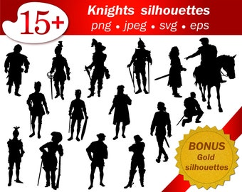 Knights pirate SVG Silhouette cameo cricut PNG vector editable men silhouette Medieval scenes and theatre silhouettes. Editable vector