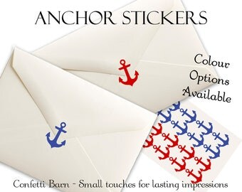 Anchor Stickers - Nautical Party - Removable Vinyl - Party Invitations - Envelope Sealing Stickers - Planner Stickers #28