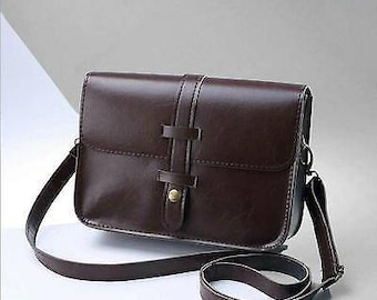 Women Leather Small Handbag Satchel Messenger Cross Body Bag Shoulder Bag Purse