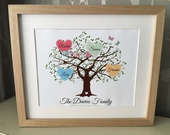 Bespoke Family Tree print