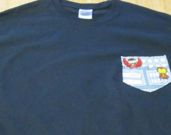 Iron Man and Falcon Pocket T-shirt