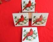 Bright Red Cardinal, coasters, cardinal, tile coasters, ceramic coaster, kiln, trivet, tile trivet, decorative tile, custom tile, bird