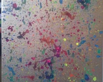 """Acrylic painting 'The stars...' on canvas 8 """"x 10"""" Samuel Boudreau 2016"""