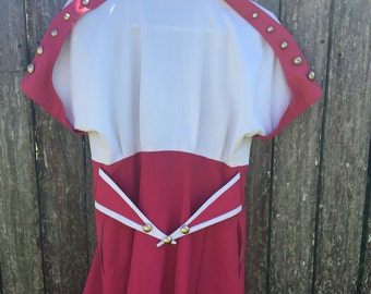 Vintage Dress - sailor style with double breasted buttons, excellent condition