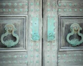 Old Venetian Door Print, Rustic Venice Italy Decor, Travel Photography