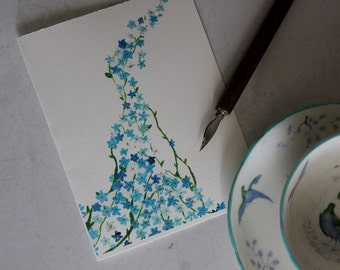 Forget-Me-Not - Limited Hand Signed Print and Greeting Card