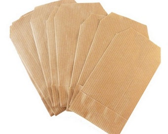 x 100 Mini size kraft paper bags- 7 x 12 cm - Wedding kraft paper favor bags - Birthday