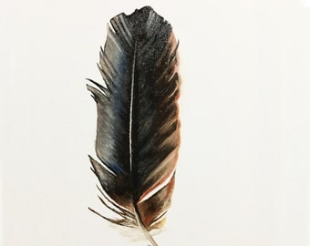 Original Oil Paintings on Canvas of Feather. Delicate Decorative Wall Art. Photo Realistic Painting for Home Decor and Lovely Home Living.