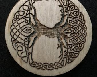 """2"""" Wood Celtic Magnet"""