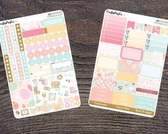 EASTER Weekly Planner Stickers Mini Kit for Vertical Erin Condren Life Planner