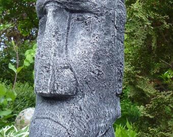MOAI - Tiki - Easter Island - figure - sculpture-39 cm stone cast Frost festival patina concrete-garden ornament