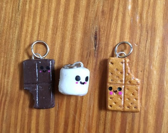 S'more polymer clay charms