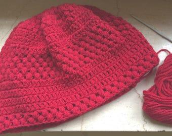 Puff crochet beret