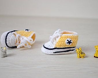 Baby socks tennis yellow