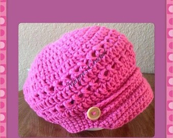 Handmade Crochet Hat with Buttons