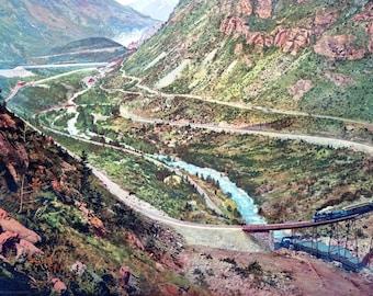 """1899 The Georgetown Loop Railroad, Colorado Vintage Art Print 11"""" x 17"""""""