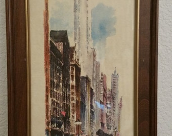 Watercolor by R. Snapper of Chicago, DAC Collection
