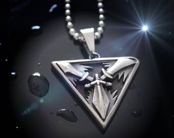 Sword Triangle Stainless Steel Pendant