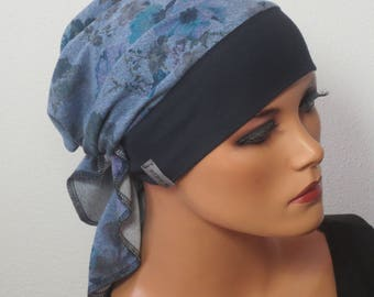 Head scarf Hat/TURBAN colorful colourful ideal for chemotherapy, alopecia Haarsausfall cancer therapy, sports convertible Cap OP hood chemo Cap Yoga