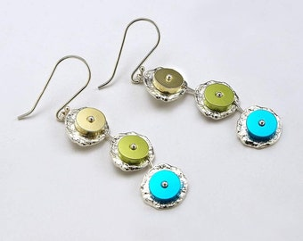 Jewelry design made of aluminum and silver