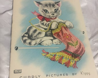 My Kitten Book, lovely childrens 1960's book by  james & jonathan inc printed in usa  pictures by kippy 305mm x 215mm