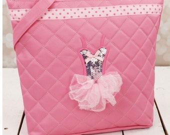 Pink Quilted Ballerina tutu Tote