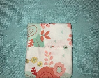 Reusable Pouches- pad wrapper- snack bag- coin pouch