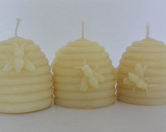 Busy Beehives Beeswax Candle