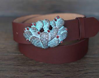 Leather Belt, Brown Leather Belt, Chestnut Brown Leather Belt, Mens Belt, Womens Belt, Jeans Belt