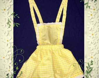 Pinafore dress - pinafore skirt - cute - unique -