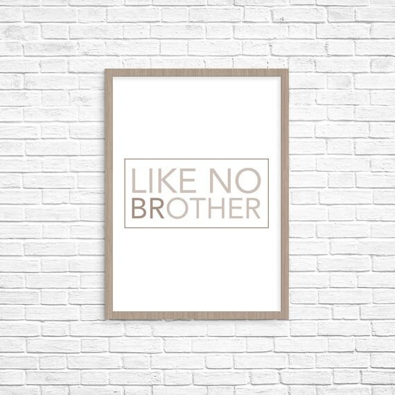 Items similar to brother like no other personalized for Art sites like etsy