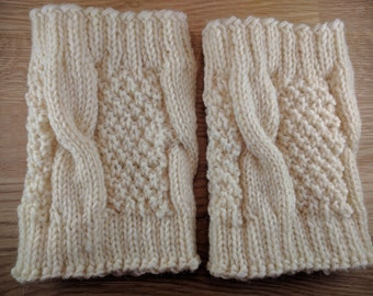 Boot Cuffs - Noble Cabled Wool Boot Cuffs