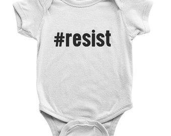 READY TO SHIP - Resist Onesie - Salt | Organic Baby Clothes | Anti Trump Shirt | Political Onesie | Kids Resist Shirt | Resistance Onesie