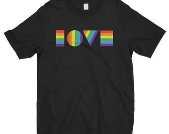 LGBTQ LOVE Shirt | Men's TShirt | Gay Pride T Shirt | Pride Shirt Men | Resist March | Pride March | Resist March | LGBT Shirt | Pride Shirt
