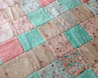 Baby girl handmade patchwork quilt