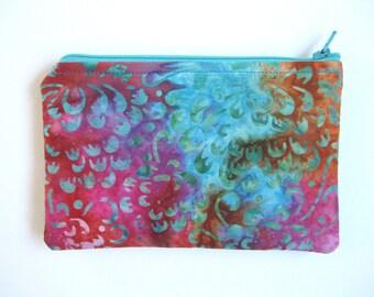 Large EMF Shielding Homeopathy Storage Zippered Bag (Batik)