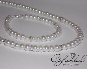 Jewelry set, Bridal jewelry, set beads