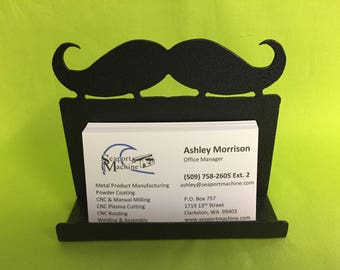Mustache Desktop Business Card Holder