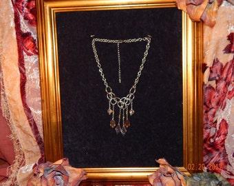 Multi Bead Drop Necklace