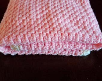 Strawberries and cream baby blanket