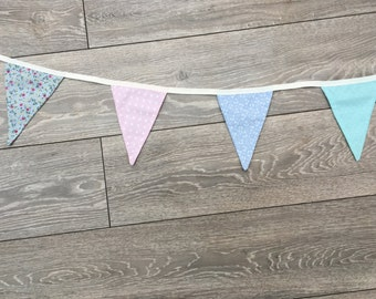 Handmade 8 piece Double Sided Bunting