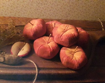 Primitive grungy Red Apples.UK buyers only