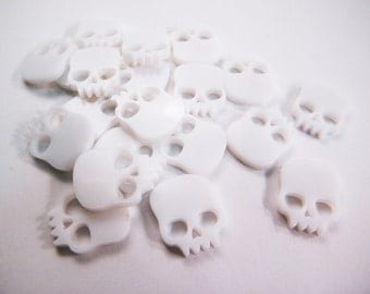 White Scull game token